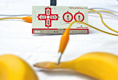 Picture of a MakeyMakey circuit board